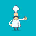 Chef in various poses for use advertising presentations brochures blogs documents and forms etc Stock Photography