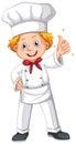 Chef in white uniform