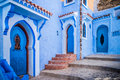 Chefchaouen morocco the beautiful blue medina of in Royalty Free Stock Photos