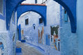 The beautiful blue medina of Chefchaouen, the pearl of Morocco - North Africa Royalty Free Stock Photo
