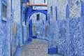 The beautiful blue medina of Chefchaouen, the pearl of Morocco Royalty Free Stock Photo