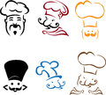 Chefs illustration of is isolated on white background created in illustrator software Stock Photography