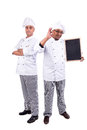 Chefs male team posing isolated on white background Stock Image