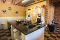 Chefs school baking kitchen restaurant at hills bothas hill outside durban Stock Photo