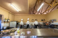 Chefs school kitchen restaurant at hills bothas hill outside durban Stock Image