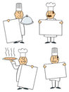 Chefs With Signs Stock Photo