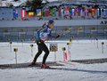 Cheile gradistei roamania january unknown competitor in ibu youth junior world championships biathlon th of january to february Royalty Free Stock Photos