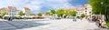 Chelmno city square panorama Royalty Free Stock Photo