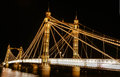 Chelsea bridge pictured night river thames london england Stock Photography