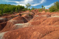Cheltenham badlands sunny day in ontario canada Royalty Free Stock Photo