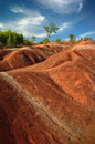 Cheltenham badlands sunny day in ontario canada Royalty Free Stock Photography