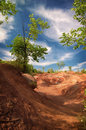 Cheltenham badlands sunny day in ontario canada Stock Photography