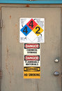 Chem door at s chemical and fertilizer plant in klamath falls oregon Royalty Free Stock Photos