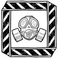 Chemical or biological warning vector Royalty Free Stock Images