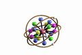 Chemical bonding model on isolated d render Stock Photography