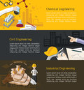 Chemical civil ndustrial engineering education infographic and industrial info graphic banner template layout background website Royalty Free Stock Image