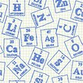 Chemical elements seamless pattern Royalty Free Stock Photo