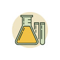 Chemical flask icon Royalty Free Stock Photo