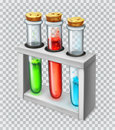 Chemical flask, test tube. Vector icon Royalty Free Stock Photo