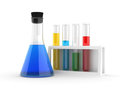 Chemical flasks with reagents Stock Photography