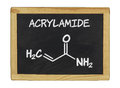 Chemical formula of acrylamid on a chalkboard blackboard Royalty Free Stock Photography