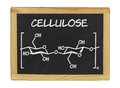 Chemical formula of cellulose on a blackboard Royalty Free Stock Image