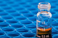 Chemical glassware - Chromatography vial Royalty Free Stock Photo
