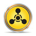 Chemical hazard icon vector illustration Royalty Free Stock Photo