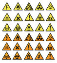 Chemical hazard signs Stock Images