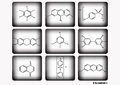 Chemical icon set,vector illustration,chemical icon set on white and black background. Royalty Free Stock Photo