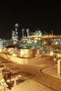 Chemical industrial night scene of plant maptaphut eastern of thailand Stock Image