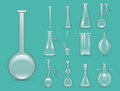 Chemical laboratory 3d lab flask glassware tube liquid biotechnology analysis and medical scientific equipment vector