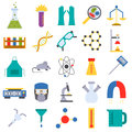 Chemical laboratory icons medicine science experiment health scientific research vector illustration