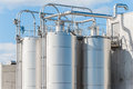 Chemical plant, silos Royalty Free Stock Photo