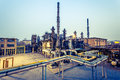 Chemical plant at twilight china Royalty Free Stock Image