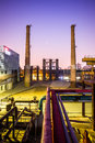 Chemical plant at twilight china Royalty Free Stock Images