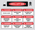 Chemical safety signs Royalty Free Stock Photo