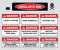 Chemical safety signs, various danger sign Royalty Free Stock Photo