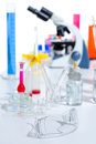 Chemical scientific laboratory stuff test tube flask Stock Image
