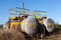 Chemical storage tank with sulfuric acid Royalty Free Stock Photo