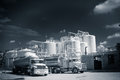 Chemical Storage Tank And Tanker Truck Stock Image