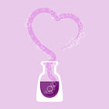 Chemical test tube with heart vector illustration Royalty Free Stock Images