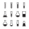 Chemical test tube icons