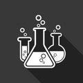 Chemical test tube pictogram icon. Laboratory glassware or beake