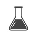 Chemical test tube pictogram icon. Laboratory glassware or beaker equipment isolated on white background. Experiment flasks.