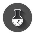 Chemical test tube pictogram icon.