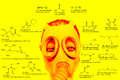 Chemical weapons chemical structures sarin tabun soman vx lewisite mustard gas tear gas chlorine military poisons Stock Photo