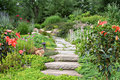 Chemin de jardin Photos stock
