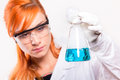 Chemist woman holding a test tube in a lab Royalty Free Stock Photo