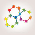 Chemistry abstract and graphical illustration of chemical bonds Stock Photo